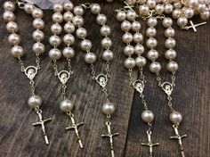 75 pcs 10mm Glass Pearl Rosary Decade Rosary by AVAandCOMPANY