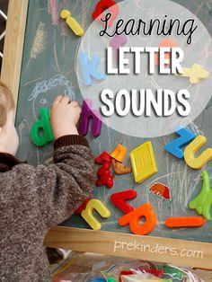 Learning letter sounds.