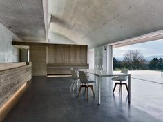 2 Verandas  Gus Wüstemann Architects  Zurich  During the day, clerestory windows in a barrel vault reflect daylight into the dining room and kitchen.