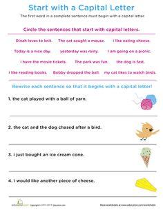 Sentences: Start to Finish | Printable Workbook | Education.com