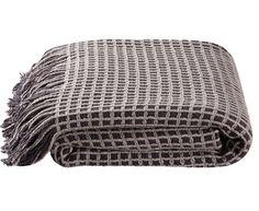 Throw rug kas huxton grey throw soft durable high standard new NOW ON SALE- 1A