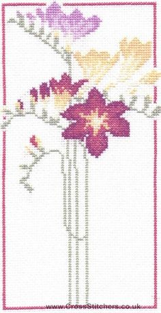 Freesia Cross Stitch Kit from Classic Embroidery