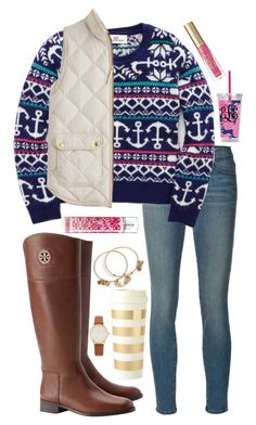 """""""It's my birthday!!!! """" by lbkatie17 ❤ liked on Polyvore featuring Frame Denim, Vineyard Vines, J.Crew, Tory Burch, Kate Spade, Alex and Ani and Too Faced Cosmetics"""
