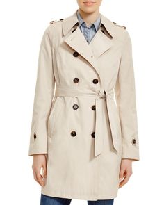 French Connection Chambray Belt Trench Coat