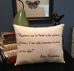 Harry Potter-Dumbledore Quote-10X12 Inch-Natural Cotton Pillow by ToPonderandDream on Etsy