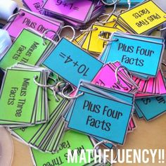 MATH FACT FLUENCY!! 23 different sets of fact fluency cards!!