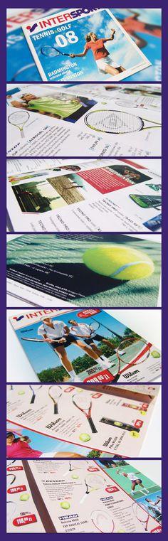 INTERSPORT - tennis catalog by Michał Rodak, via Behance