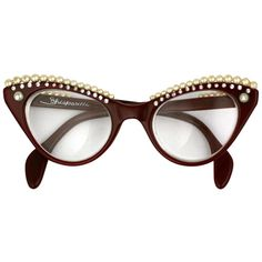 Hully Hully Gully ❤ liked on Polyvore featuring accessories, eyewear, sunglasses, glasses, occhiali and elsa schiaparelli
