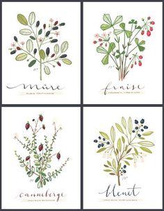 4 kleine Früchte English Kulinarik Collection von evajuliet