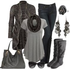 black-grey: fashionable matching :-)