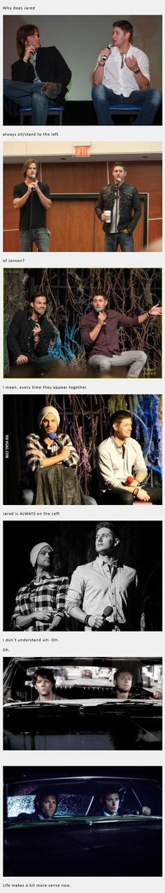 Why is Jared always on the left side of Jensen? | DailyFailCenter