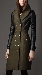 Leather Sleeve Coat