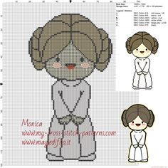Princess Leia (Star Wars) cross stitch pattern