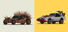 Illustrations of the Vehicles of Mad Max Fury Road