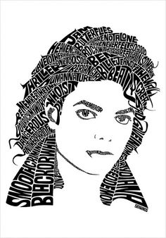 Michael Jackson typographic portrait design by Seanings