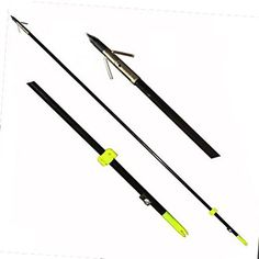 Safari Choice Bowfishing Arrows with Broadheads Pack (3 Piece), 35″  3 fishing arrowsComes with attached broad headsArrow length: 35 inch  http://outdoorgear.mobi/product/safari-choice-bowfishing-arrows-with-broadheads-pack-3-piece-35/