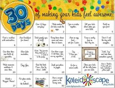 A 30 day challenge to connect with your kids and make them feel AWESOME. - modify to make it fit our family Parenting Advice, Kids And Parenting, Summer Kids, Raising Kids, Best Mom, My Children, Children Church, Cool Kids, Kids Fun