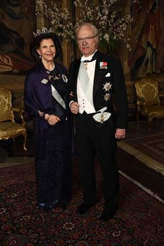 Gert's Royals (@Gertsroyals) on Twitter:  Representationsmiddag (at the Royal Palace, Stockholm, March 23, 2017-King Carl Gustaf and Queen Silvia