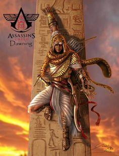 The Assassin, Arte Assassins Creed, Assassins Creed Origins, Assassins Creed Odyssey, Egyptian Kings, Ancient Egyptian Art, Assassin's Creed I, Connor Kenway, Egyptian Mythology