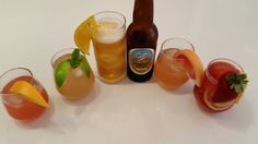 Beer cocktails! Just 70% Himmel witbier + 30% soft drink of choice + ice + garnish = chilled summery deliciousness