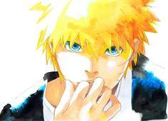 Naruto watercolour portrait