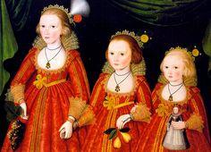 Three Young Girls by Robert Peake c. 1620