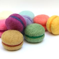 The cutest little felt macaroons - for when you want them but don't want the calories :)
