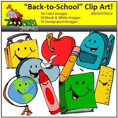 This FREE back to school clipart set includes 9 happy school supplies images… Digital Paper Freebie, Digital Papers, Art School, School Stuff, Pencil Apple, Free Clipart For Teachers, Back To School Clipart, Cool Clipart, School Border
