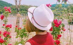 配色ストラップポイントストローハット -  [Daily about:デイリーアバウト]韓国人気レディースファッション通販! お手ごろなオリジナルアイテムが盛りたくさん!!