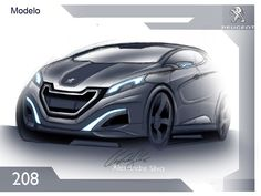 Peugeot 208 concept 2014   Design by Alexandre Silva - http://www.behance.net/gallery/Peugeot-208-2014-Design-Alexandre-Silva/8638427