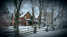 The manor in the winter is an amazing venue for a wedding.