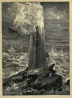 Rudyerd's lighthouse burning to the ground - the demise of the 2nd lighthouse on Eddystone Rocks