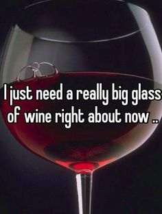 I just need a really big glass of  right about now. Wine Images, Life Quotes, Big, Glass, Quote Life, Quotes About Life, Drinkware, Life Lesson Quotes, Quotes On Life