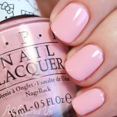 OPI Small+Cute=♥ is a rosy pink creme.