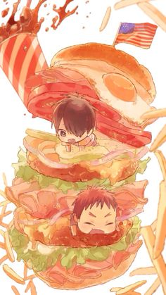 KnB - Taïga with Tatsuya! So cute i Want to eat them!