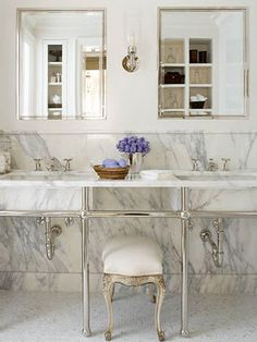 White Marble Bathroom. Too Gorgeous