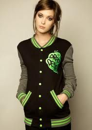 Love this jacket and her makeup (;