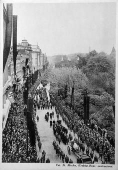 1935.05.18 - Pogrzeb marszałka Józefa Piłsudskiego w Krakowie, Kraków - 1935 rok, stare zdjęcia