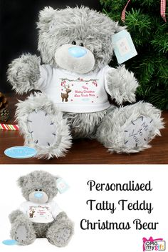 The ideal Christmas Keepsake and a Christmas Gift that anybody would love to receive.  The gorgeous Tatty Teddy Bear from Me To You, that can be personalised for an extra special touch