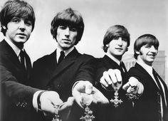 Beatles with MBE-medals