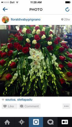 Casket spray Casket Flowers, Funeral Flowers, Wedding Flowers, Funeral Floral Arrangements, Large Flower Arrangements, Funeral Caskets, Funeral Sprays, Casket Sprays, Grave Decorations