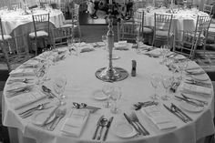Wedding table settings at The Johnstown Estate
