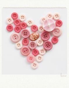 coeur de boutons