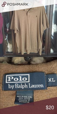 Men's Polo Ralph Lauren Brown Sport Shirt Size XL This item is in great shape! Polo by Ralph Lauren Shirts Polos