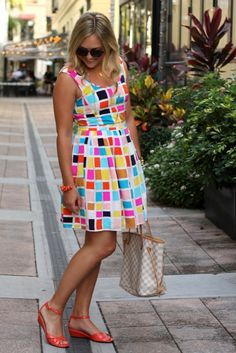 One of the cutest dresses ever...love the pattern and the bright colors!!