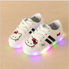 best authentic d5e0d 5e8b4 Girls Shoes Sport Sneakers 2017 Spring Brand Led Cartoon Girls Princess  Shoes Sneakers Children Shoes With Light Size 21-30