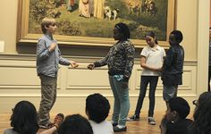 Students creating a tableau at the Met. Photo by Don Pollard. Interactive Museum, Interactive Installation, Interactive Art, Art History Lessons, History For Kids, Teaching History, Teaching Art, Teaching Ideas, Museum Education