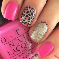50 Stylish Leopard and Cheetah Nail Designs - Nail Design .- 50 stylish leopard and cheetah nail designs - Cheetah Nail Designs, Leopard Print Nails, Nail Art Designs, Leopard Prints, Pink Cheetah Nails, Leopard Nail Art, Nails Design, Hot Pink Nails, Pedicure Designs