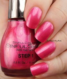 Sinful Colors Bayou Babes Flambeaux Pink   Be Happy And Buy Polish https://behappyandbuypolish.com/2017/04/06/sinful-colors-bayou-babes-nail-polish-collection-swatches-review/