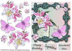 congratulation lilies on Craftsuprint - Add To Basket!